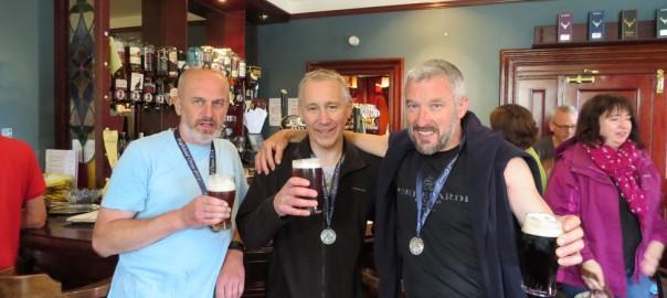 Iain, John and Ashley after the Highland Cross Duathon 2014